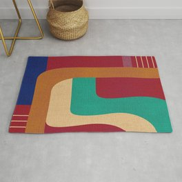 Against the wall Rug