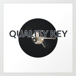 Quality Key: Vinyl Time Art Print