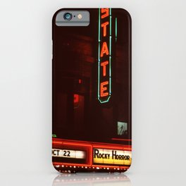 Night Lights State Street Theater, Ithaca NY iPhone Case