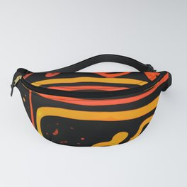 Colored Ethnic Abstract Art Fanny Pack