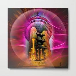 China Art Pearl Tower Metal Print
