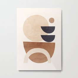 Abstract Minimal Shapes 33 Metal Print