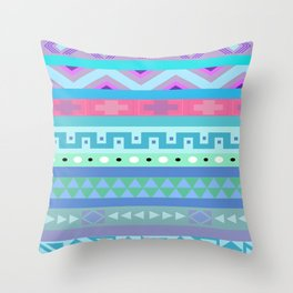 Calm Colored Tribal Print Throw Pillow
