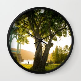 Tree of Light Wall Clock