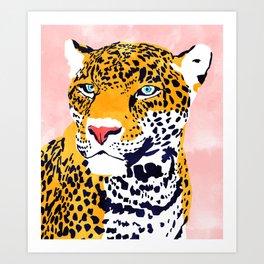 The Leopard Portrait Art Print