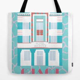 Miami Landmarks - Hotel Webster Tote Bag