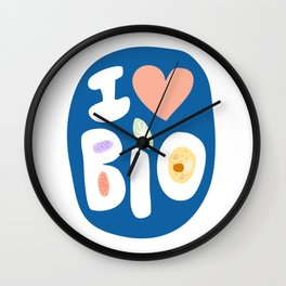 I LOVE BIOLOGY Wall Clock