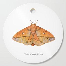 Spiny Oakworm Moth (Anisota stigma) Cutting Board