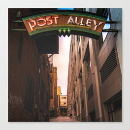 Post Alley in Seattle Washington Canvas Print