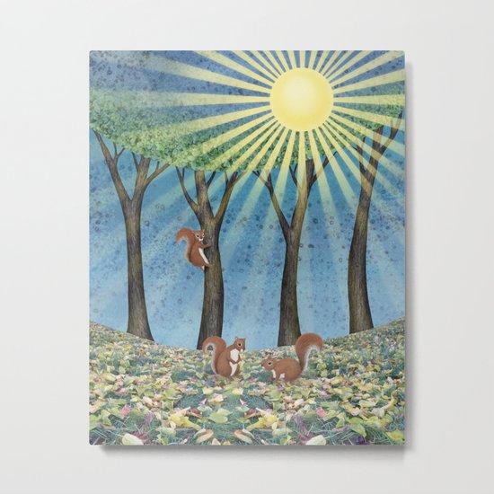 sunshine squirrels Metal Print