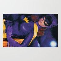 batgirl Area & Throw Rugs featuring BATGIRL 1966 by ROY  AIUTO