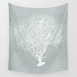 White Coral Wall Tapestry