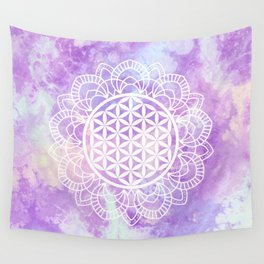 Flower Of Life (Soft Lavenders) Wall Tapestry