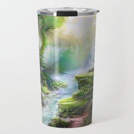 Magical Forest Stream Travel Mug