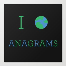I heart Anagrams Canvas Print