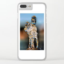 Water Art The Horse art by @balazsromsics Clear iPhone Case
