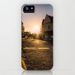 On my way sunset iPhone Case