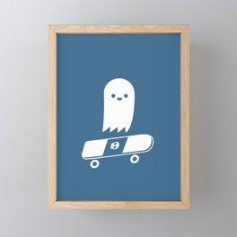 Skate Ghost Framed Mini Art Print