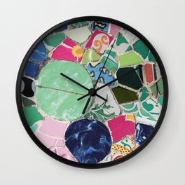 Tiling with pattern 6 Wall Clock