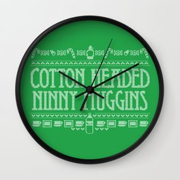 Cotton Headed Ninny Muggins Wall Clock