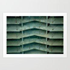 Building on construction Art Print