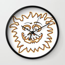 Sunburst jGibney The MUSEUM Society6 Gifts Wall Clock