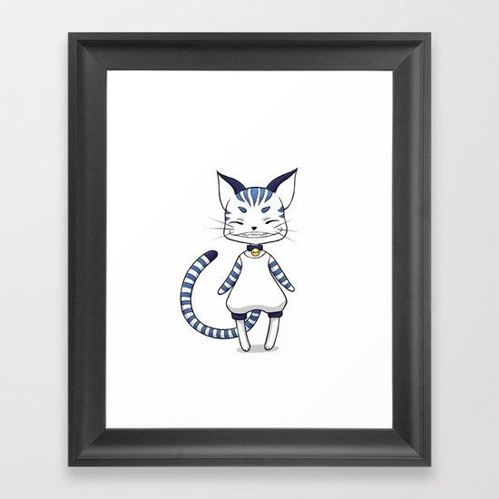 Smiling Cat Framed Art Print