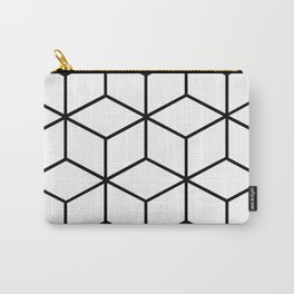 Black and White - Geometric Cube Design I Carry-All Pouch