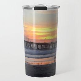 Cayucos Pier Sunset Travel Mug