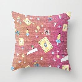 Whimsical Alice Throw Pillow