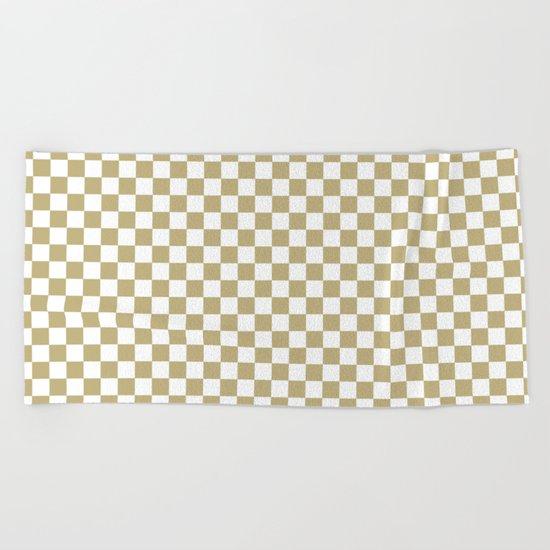 Checker (Sand/White) Beach Towel