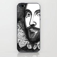 William Shakespeare Portrait - The Tudor Illustration Series iPhone & iPod Skin