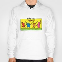 keith haring Hoodies featuring Haring Time by le.duc