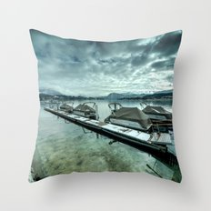 Lake Lucerne Jetty Throw Pillow