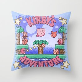 Adventure Kirby Throw Pillow