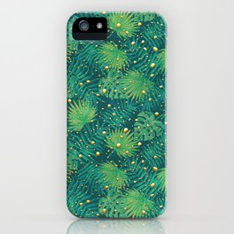 Tropical Gold Dots iPhone Case
