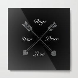 Rage & love -  Peace & war by GreenDay Metal Print