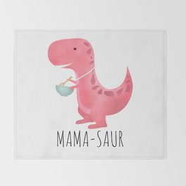 Mama-saur Throw Blanket