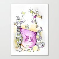 literary Canvas Prints featuring Literary Fort by Genevieve Santos