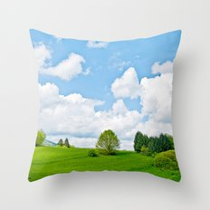 Wonderful spring Throw Pillow