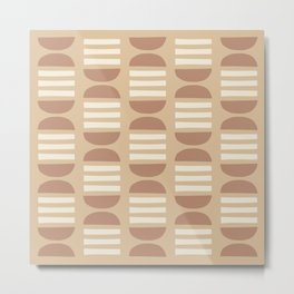 Mid Century Modern Geometric Pattern 727 Metal Print
