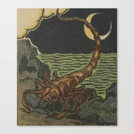 French Tarot Scorpion Canvas Print