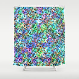 Origami mess Shower Curtain