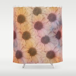 Floral carpet, textured painting Shower Curtain