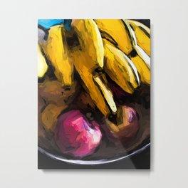 Apples and Bananas 1 Metal Print