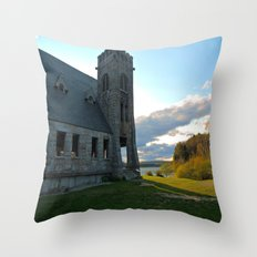 In the Shadow of the Old Stone Church  Throw Pillow