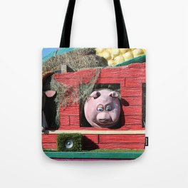 Barnyard Float-Goat, Pig, & Chicken Tote Bag