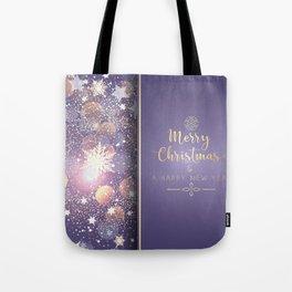 Decorative Christmas Card With Bokeh Lights Tote Bag