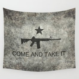 Come and Take it Flag with AR-15 Wall Tapestry