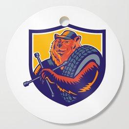 Bear Tireman Crest Cutting Board